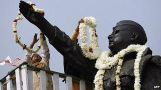 Statue of Subhash Chandra Bose in Calcutta