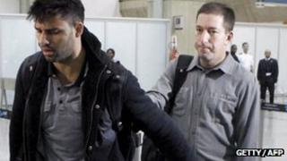 David Miranda with partner Glenn Greenwald