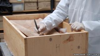 Lead coffin