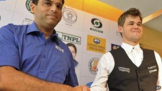 Vishwanathan Anand and Magnus Carlsen - 7 November