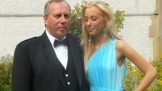 Dennis Robertson and his daughter Caroline
