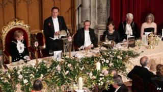 David Cameron at the Guildhall