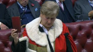 Annabel Goldie is sworn in