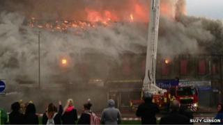 Elite Buildings fire in Stanley