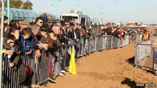 Crowds at Skegness beach race