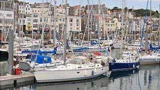 Visitor marina at Guernsey's St Peter Port Harbour