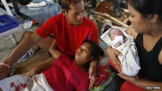A mother recuperates after giving birth