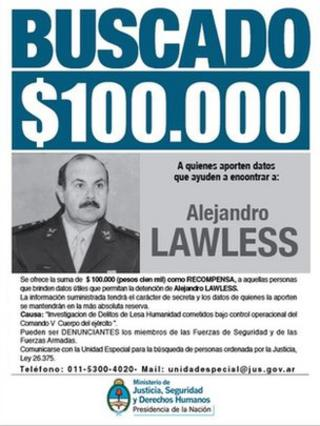 Wanted poster form the Argentine Justice Ministry