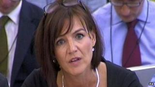 Lucy Adams speaks to the Public Accounts Committee in September