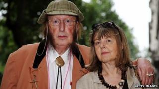John McCririck and his wife Jenny McCririck