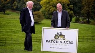 Chris Pomfret, chairman of the Cornwall and Isles of Scilly Local Enterprise Partnership (left) with Simon Birch, chief executive of Cornwall Farmers