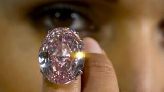 A 59.6-carat pink diamond
