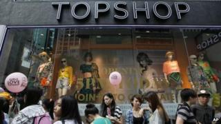 The first Topshop store in Hong Kong