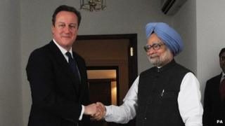 David Cameron and Manmohan Singh