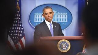 """President Obama speaks to the press about a proposed """"fix"""" to the health care reform law."""