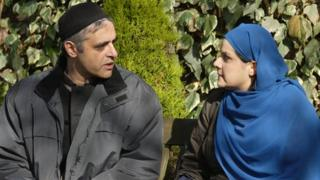 Paul Bhattacharjee and Nina Wadia in EastEnders