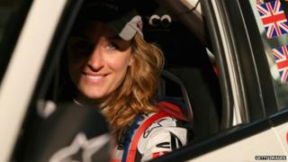 Olympic Skeleton gold medalist Amy Williams is seen at the ceremonial start