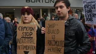 protesters in portsmouth
