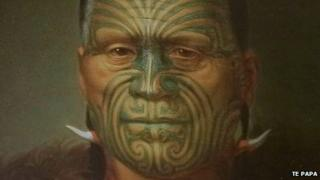 The Museum of New Zealand Te Papa Tongarewa displays Maori tattoo illustrations