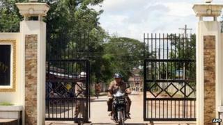 File image of the gates at Rangoon's Insein prison