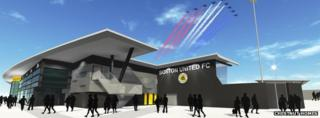 Boston United's proposed new stadium