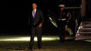 President Obama returns to the White House after a trip on Thursday to Ohio.