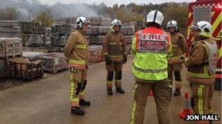 Crews at quarry fire