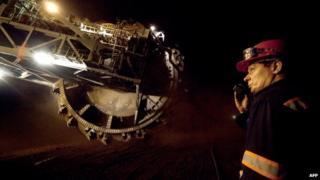 Berchatow open-cast lignite mine