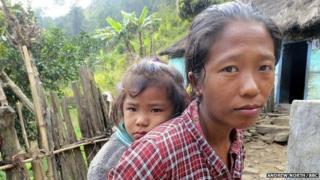 Manju and her daughter Bimita