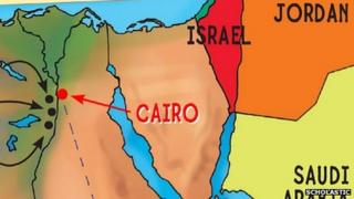 Scholastic's republished map of Egypt and the Middle East