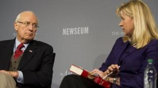 Dick Cheney and his daughter Liz at a 2011 speaking engagement.