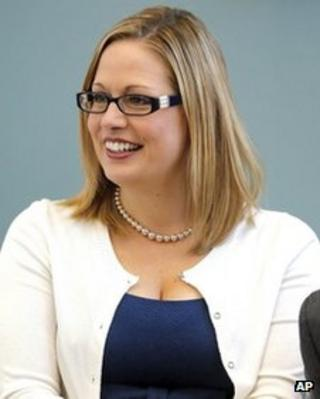 US Representative Kyrsten Sinema in Tempe, Arizona, on 20 August 2013