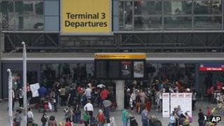 Terminal Three at Heathrow airport