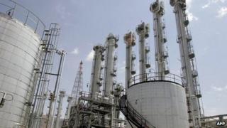 Heavy water plant in Arak (file image)