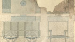 A design for a locomotive for Nantyglo Ironworks, Monmouthshire, 1854