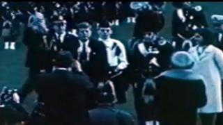 The Black Watch band played for President Kennedy on the White House lawn