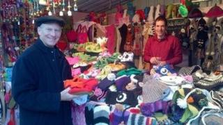 Richard Haass at Belfast's continental market