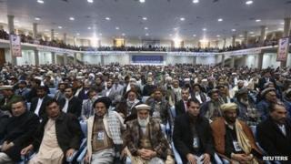 Loya Jirga gathering, Kabul, 21 Nov