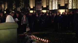 Candlelit vigil