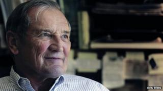 File photo: Retired finance executive Merrill Newman in 2005