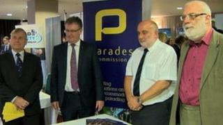 Mike Nesbitt at the Parades Commission stand