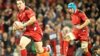 George North a Justin Tipuric