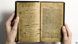 Old South Church copy of the Bay of Psalms being sold at auction in November 2013