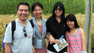 Ding family at Eden Project