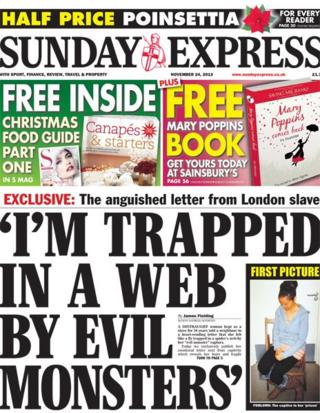 Sunday Express front page 24/11/13