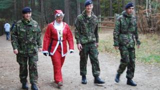 Jan Angell on Santa Dash