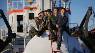 Greenpeace activists on ship Arctic Sunrise