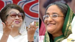 Khaleda Zia and Sheikh Hasina