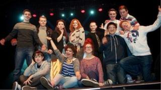 Katy B with Music City young people