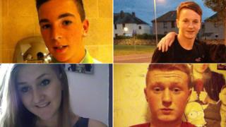 David Armstrong (Top left), Josh James-Stewart (top right), Jenna Barbour (bottom left) and Robbie Gemmell (bottom right)